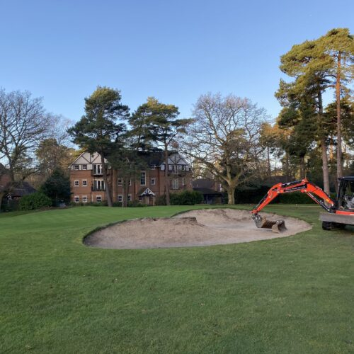 Bunker work at Camberley Heath
